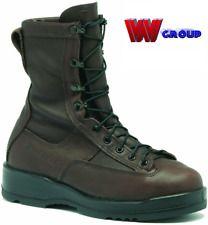 BELLEVILLE 330 ST WET WEATHER BROWN STEEL TOE FLIGHT BOOTS NEW