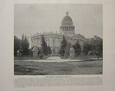 Impresión De 1898 + texto ~ ~ Estado capitpol Sacramento California