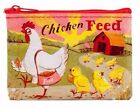 Blue Q Coin Purse Chicken Feed 95% Recycled Material Zipper