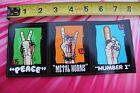 BURTON Snowboards Peace Metal Horns Snow Vintage Snowboarding STICKER Sheet of 3