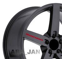MOTORSPORT Wheels Vinyl Decal Sticker Sport racing car rims emblem logo 4 pcs