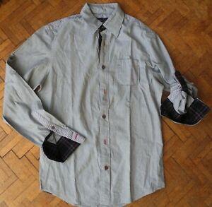 Chemise manches longues Zara M 2 tissus à rayures et détails écossais