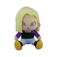Dragon Ball Super Android 18 Sitting 7 Inch Plush Figure NEW IN STOCK