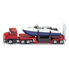 BRAND NEW - SIKU - 1613 - LOW LOADER WITH BOAT - GREAT GIFT IDEA