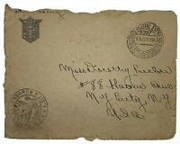 1918 KNIGHTS OF COLUMBUS US MILITARY POSTAL EXPRESS SERVICE CENSORED COVER