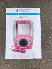 The Singing Machine Classic AGUA Karaoke System Pink One Wired Microphone