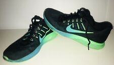 NIKE  Lunarglide  Men's Shoes Size 9 Black Green Running Athletic 843725-003