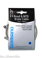 Shimano Road and Mountain Bike Brake Cable 1.6mm x 1700mm Double Ended Universal