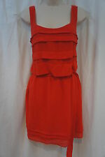 Studio M Petite Dress Sz PM Orange Persimmon Sleeveless Cocktail Party dress