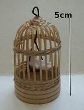 cage avec oiseau miniature 1/12,maison de poupée, vitrine, animal, vogel    S14
