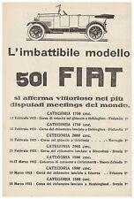 PUBBLICITA' 1923 FIAT 501 RECORD HELSINGLAND STOCCOLMA CHRISTCHURCH HELSINGFORS