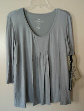 MIRACLEBODY BY MIRACLESUIT SLATE GREY PLEATED FRONT BODY SHAPING TOP SIZE S NWT