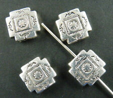 70pcs Tibetan Silver Fancy Square Spacers Jewelry DIY 10x10x3.5mm 10596