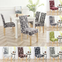 Dining Chair Seat Cover Stretch Removable  Slipcover Wedding Party Banquet Decor