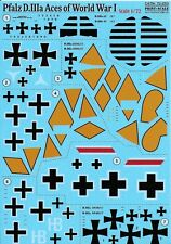 PRINT SCALE DECALS PFALZ D.IIIa 1/72 for Roden etc *FREE POSTAGE WITH KIT*