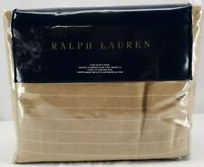 RALPH LAUREN HOME Camel Haberdashery KING DUVET Striped 100% Cotton