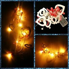 Love Hearts & Ribbons LED Fairy String Lights, Gift Wrap,Wedding,Valentine,Party