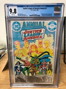 Justice League of America Annual #2 (1984) CGC 9.8 WHITE Pages - 1st Vibe