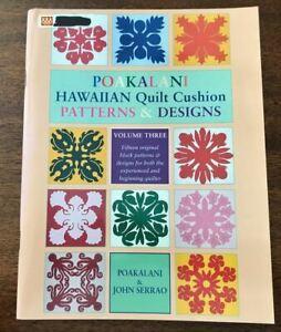 POAKALANI Hawaiian QUILT Cushion Patterns & Designs, Volume Three, 15 Blocks