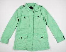 Banana Republic Womens Mint Green Military Jacket Outerwear Coat SZ S