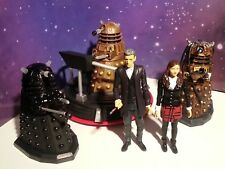 """DOCTOR WHO 6 x 3.75"""" FIGURES SET LOT INTO THE DALEK CLARA 12TH DR HOVERCRAFT"""