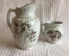 New listing Antique Nj 1890-1895 Ironstone Pitcher & Mug Glasgow Pottery Trenton New Jersey
