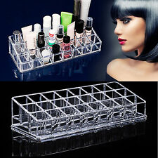 24 Sections Cosmetic Lipstick Makeup Organiser Display Storage Stand Holder Rack