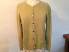 EDDIE BAUER Green Cotton Blend Womens Long Sleeve Button Sweater Size Large