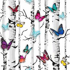 MURIVA EMPEROR'S GARDEN BUTTERFLY WALLPAPER (102529) BIRCH TREE FEATURE WALL