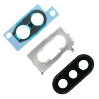 Appareil Photo Lentille Set Pour IPHONE XS Max Noir Verre Support Joint Cadre