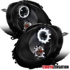 2007-2013 Mini Cooper Black Halo Aro Projector Headlights HEAD Lamps Par
