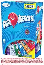 AIRHEADS 90 CANDY TAFFY Sweet Tart fruit ASSORTED VARIETY 49.5oz air heads laffy