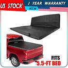 Fits For 2004-2021 F150 Truck 5.5ft Bed Soft Tri Fold Tonneau Cover Fleetside