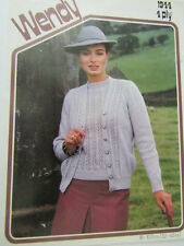 Vintage Womans Lacy Jumper & Cardigan twin-set Knitting Pattern