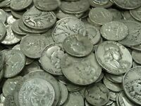 90% Junk Silver US Coins lot of $1.00 Face Value Pre-1965 No Clad Or Nickels