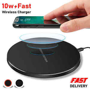 Qi Fast Wireless Charger Charging Pad For Samsung Apple iPhone 12 XS Max Xr X 11