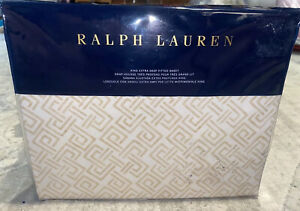 New Ralph Lauren Weston Park Hutchings King Extra Deep Fitted Sheet Cream