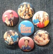 """1"""" pinback buttons inspired  by """"The Brady Bunch"""""""
