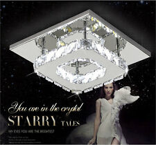 NEW Square 20cm 12W Crystal LED Ceiling lights chandeliers Porch light H501H
