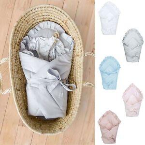 Babyhörnchen Babyschlafsack Einschlagdecke Wickeldecke Baumwolle 75x75