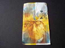 SWITZERLAND SWISS 10 FRANCS - PAPER NOTE
