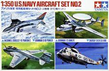 Tamiya 78009 1/350 Scale Model Kit U.S.Navy Carrier Aircraft Fighter Set No.2