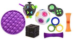 10 Piece Fidget Toys Pack Set Sensory Tools Bundle Stress + FREE SIMPLE DIMPLE