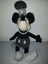 DISNEY STEAMBOAT WILLIE BLACK AND WHITE MICKEY MOUSE PLUSH TOY