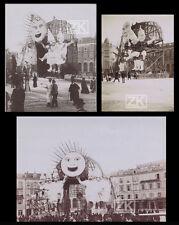 CARNAVAL DE NICE 3 Photos Défilé Soleil Mascarade Folklore Côte d'Azur 1900s