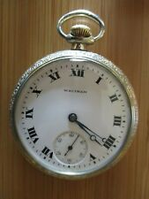 Vintage Antique Waltham 16s 15 jewels pocket watch fancy dial    *serviced*