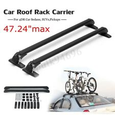 "47"" Universal Car Top Luggage Roof Rack Cross Bar Carrier Adjustable For 4DR SUV"
