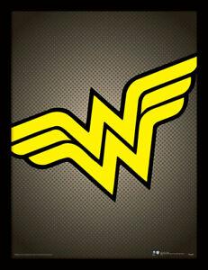 DC Comics Wonder Woman Symbol - Framed 30 x 40 Official Print