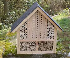 Insektenhotel Insektenhaus für Wildbienen und Co Naturschieferdach 39 x 38
