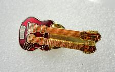 ZP211 Rush 2112 rock pin badge Lee Lifeson Peart Enamel Twin Guitar